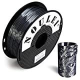 Noulei Filamento de para impresión 3d 1.75mm PLA, Silk BLACK Shiny Printing Filament 1KG 1 Spool