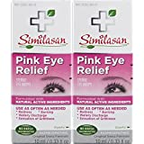 Similasan Pink Eye Relief Drops 0.33 fl oz 2 Count, for Temporary Relief