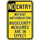 fhdnagfds Aluminium, eingeschränkten Zugang Schild, reflektierende 45,7x 30,5cm mit Kein Zutritt Info in Englisch, gelb