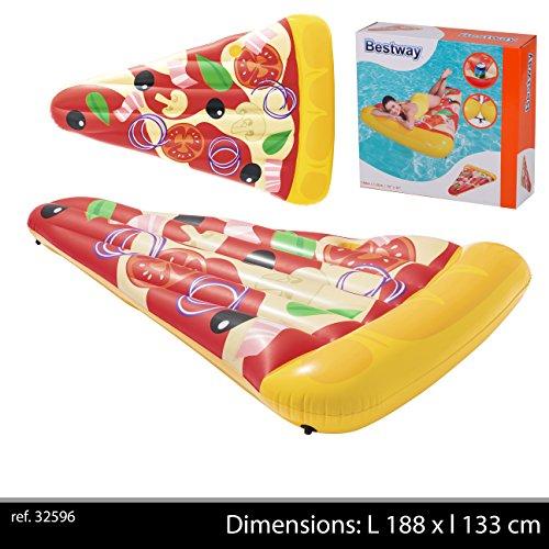 Bestway Pizza Party Lounge 188x130cm \nLuftmatratze mit Getränkehalter