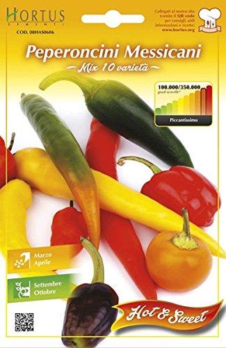 semi peperoncini messicani - MIX 10 varietà