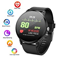 """Waterproof Fitness Tracker Watch, lesgos V11 1.3"""" Color Screen Bluetooth Smart watch with Blood Pressure/Heart Rate/Calorie/Sleep Monitor/Activity Tracker for Android/iOS"""