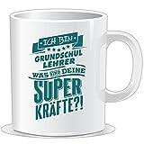 getshirts - RAHMENLOS® Geschenke - Tasse - Superpower Grundschul Lehrer - petrol - uni uni