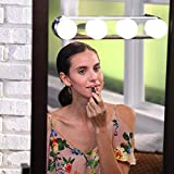 Sevia Portable Multipurpose Studio Glow Make Up Light Super Bright 4 LED Bulbs Cosmetic Mirror Light Kit Battery Powered Makeup Light
