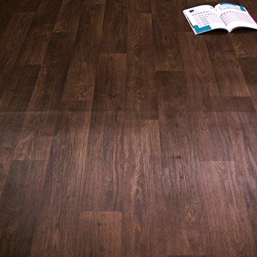 PVC Bodenbelag Holz Eiche Dunkel Braun Breite 3 m (9,95 EUR pro m²)