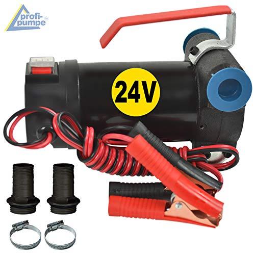 24V Dieselpumpe Heizölpumpe Biodiesel-Pumpe Ölpumpe Diesel Star 160 mit Anschluss Elektro Fasspumpe, Leistungsstarker Motor mit Kupferwicklung 2stk. Tüllen zum Super-Preis