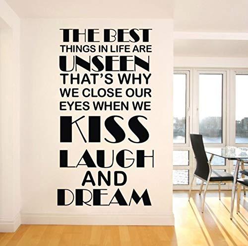 Pbldb Die Besten Dinge Im Leben Are'T Dinge Vinyl Wand Schriftzug Aufkleber, Zitate Sagen Worte Kunst Aufkleber 57 X 79