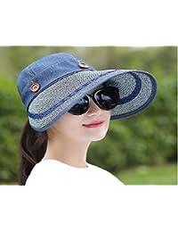 e166183227663 COKK Women Wide Large Brim Floppy Summer Beach A Sun Hat Straw Hat Button  Cap Summer