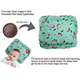 GURU KRIPA BABY PRODUCTS ® Presents New Born Baby Cotton Soft Fabric Musterd Seeds Rai Pillow For Baby Head Shaping Takiya Detachable Mustard / Rai Seed Pouch For Easy Washing Feeding & Nursing Baby Neck Pillow (Green)