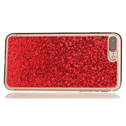 IPhone 7 Plus Case, Ganzkörper-Schutz Bling-Bling Style TPU Soft zurück Fall für IPhone 7 Plus ( Color : Blue ) Red