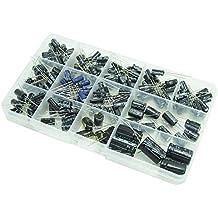 DollaTek Condensadores 13 Valores Total 200 PCS 0.47uF a 1000uF Capacitadores Electrolíticos Kit de Surtido