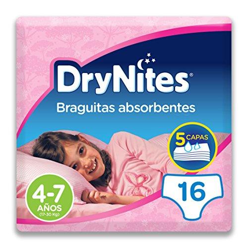 Huggies DryNites Pyjama Pants Mädchen 4–7Jahre (17–30kg) 16er, Schlupfhosen