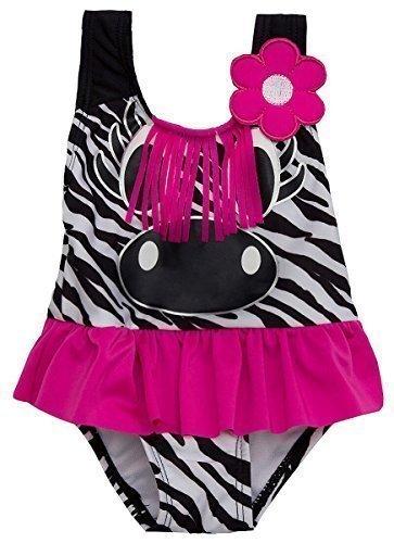 ra Marienkäfer Eule-biene Fish Badeanzug größen von 3 Monate bis 6 Jahre - Zebra, 18 - 24 Months (Süße Mädchen-thema)