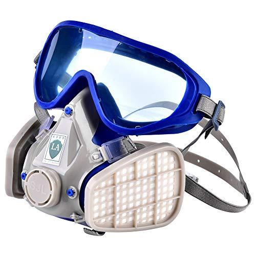 Respiratore a pieno facciale - Respiratore full face in silicone, maschera antigas particella, antipolvere chimico
