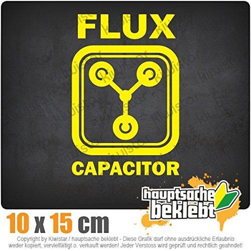 Flux Capacitor 11 x 16 cm IN 15 FARBEN - Neon + Chrom! Sticker Aufkleber