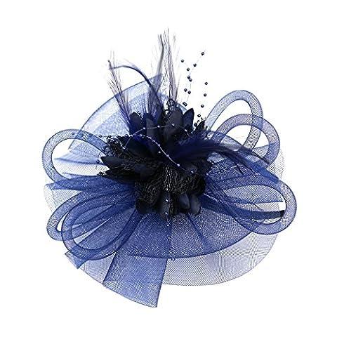 Gazechimp Bandeau Fleur Plume Vintage Chapeau Bibi Rétro à Voile