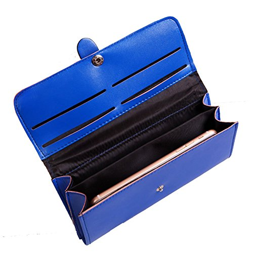 51ZpSDFFxBL - Bling Stars Women Leather Wallet Purse Credit Card Clutch Holder Case
