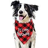vamei Halstuch Haustier Kopftuch Hunde zum Geburtstag Bandana Birthday Dreiecktuch Halsschal Hunde Geschenk für kleine, mittelgroße und große Hunde Katzen (It's My Birthday)