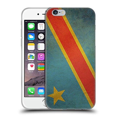 Head Case Designs République Démocratique Du Congo Congolais Drapeaux D'époque 5 Étui Coque en Gel molle pour Apple iPhone 6 / 6s République Démocratique Du Congo Congolais