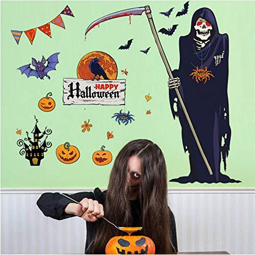 Shuyinju 60X90 Cm Neue Ankunft Halloween Hexe Hintergrund Dekoriert Wohnzimmer Schlafzimmer Wandaufkleber Sensenmann Wandaufkleber