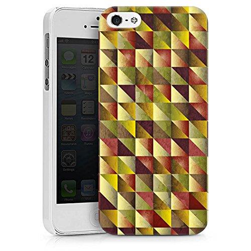 Apple iPhone X Silikon Hülle Case Schutzhülle Dreiecke Muster Abstrakt Hard Case weiß