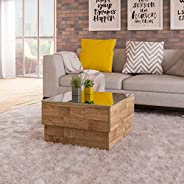 Artely MDF/MDP Parati Coffee Table, Rustic Brown, H35 x W60 x D60 cm