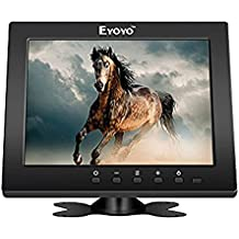Eyoyo 8 Pulgadas Monitor TFT HD LCD Color de Pantalla (4: 3,1204x768, 250cd / ㎡ ,VGA, BNC, AV, HDMI)