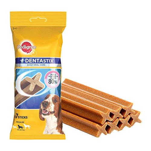 Pedigree DentaStix Hundesnack für mittelgroße Hunde (10-25kg), Zahnpflege-Snack mit Huhn und Rind, 10 Packungen je 7 Stück (10 x 180 g) - 2