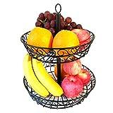 huajian 2-tier arbeitsplatte stehenlassen früchtekorb inhaber für obst, gemüse, salate, haushaltsgeräte