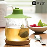 Appetitissime Tap It Tapa para Infusiones, Silicona, Verde, 11 x 36 cm