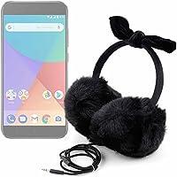 DURAGADGET Auriculares de Diadema Acolchados con Exterior Peludo de Peluche para Smartphone Xiaomi Mi A1 Invierno
