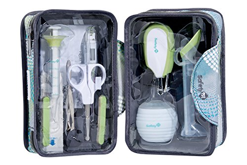Safety 1st 32110139 Großes Gesundheitsset, 9 Gesundheits- und Pflegeartikel für Babys mit praktischem Reisetäschchen