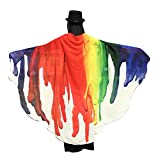 Schmetterlings Flügel Schals, VEMOW Frauen 145 * 65CM Weiches Gewebe Fee Damen Nymph Pixie Halloween Cosplay Weihnachten Cosplay Kostüm Zusatz(X4-Weiß, 197 * 125CM)