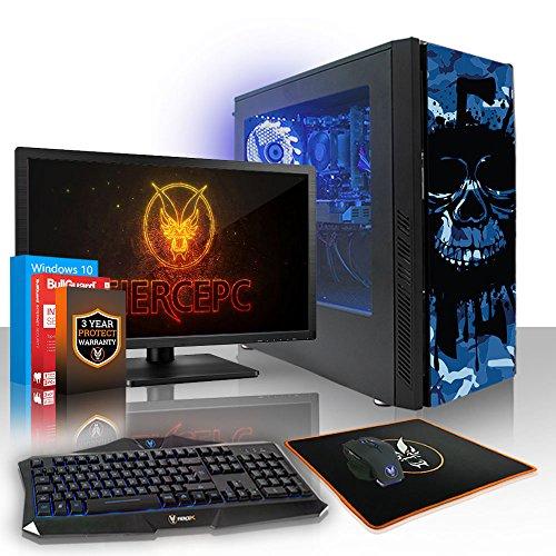 Fierce Phoenix RGB Gaming PC Bundeln - Schnell 4.0GHz Quad-Core AMD Ryzen 3 2300X, 1TB HDD, 8GB 2666MHz, NVIDIA GeForce GTX 1050 Ti 4GB, Windows 10, Tastatur (VK/QWERTY), Maus, 24-Zoll-Monitor 514507