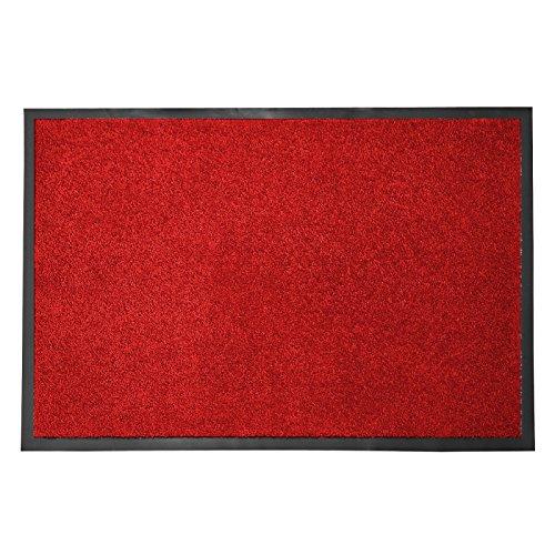 casa pura® Premium Fußmatte in attraktiver Optik | Schmutzfangmatte in 5 Größen | rot | 60x90cm