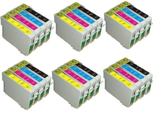 UCI 24x T0615 (T0611, T0612, T0613, T0614) Cartouches d'encre compatible avec Epson Stylus Imprimantes (6 x Noir, 6 x Cyan, 6 x Magenta, 6 x Jaune)