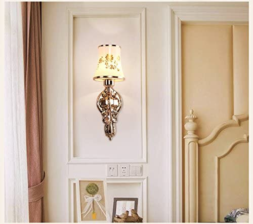 DFHHG® Continental moderna oro singola testa e doppia testa singola della lampada da parete Creative Art comodino da letto Camera d'albergo Lampada da parete Letto americano (Coloreee   Singola testa) 2245a6