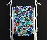 Digitaldruck Autoaufkleber Dach Steine Muster Symbol Fische Kunst Auto Tuning bunt Aufkleber Airbrush Racing Autofolie Car Wrapping CA189, D Aufkleber Größe:115cmx205cm
