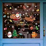 Kampre Weihnachtsdekoration Wandsticker Glasfenstersticker Sorgen für Festliche Stimmung