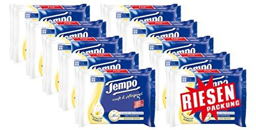 Tempo Sanft und Pflegend feuchtes Toilettenpapier Riesenpackung (20 Packungen x je 42 Tücher) (Pflegendes Vitamin)