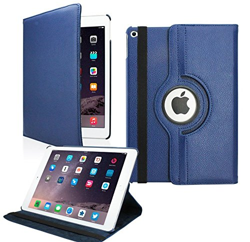 MOCA 360 Degree Rotating Stand PU Leather Folio Smart Flip Cover For...