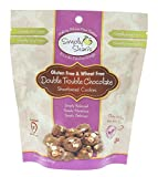 Simply Shari's Gluten-free Double Trouble Chocolate Shortbread Cookies – All-natural, Wheat-free, and Non-GMO – 6.5 Ounces in Resealable Pack