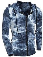 EKU Mens Gradients Slim Drawstring Long Sleeve Hoodie Jacket XL 1
