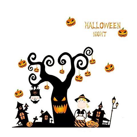 Qualité Halloween - OULII Fenêtre Décoration murale Happy Halloween muraux