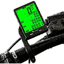 """West Biking, computer da bicicletta con schermo LCD retroilluminato da 2,8"""", sensore di movimento senza fili, impermeabile, per monitoraggio velocità e distanza, cronometro, tachimetro, contachilometri (cablato, wireless), Bambino Uomo donna, wireless computer"""