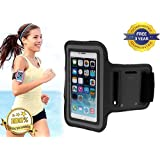 iPhone 6 PLUS Premium Armband Case Cover Holder Suitable for Sports Running, Jogging, Gym With Headphone Slot Holder, Key Slot Holder And Adjustable Velcro Strap- 3 YEARS FREE GUARANTEE!