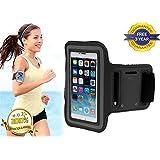 iPhone 6Plus Premium brazalete Funda Soporte adecuado para deportes, correr, gimnasio de running con ranura para auriculares, soporte de ranura de clave y correa de velcro ajustable garantía de 3años gratis.