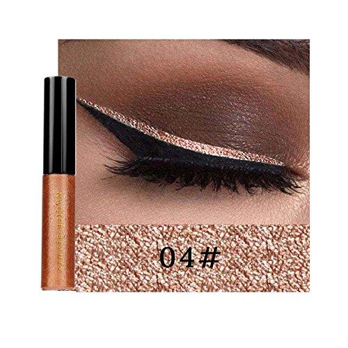 Oshide 6 Farben Eyeliner Glitzer Wasserdicht Schimmer Pigment Metallic Liquid Glitters Eyeliner