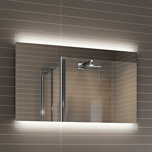 iBathUK 700 x 500 mm Designer Illuminated LED Bathroom Mirror Light Sensor   Demister ML5001