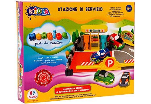 Globo Toys Globo-3749850gm kidea Service Station Soft Clay Set mit Zubehör (8-teilig) - Art Clay Copper Clay